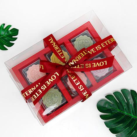中秋禮品推薦 月餅造型手工香皂禮盒(6入)