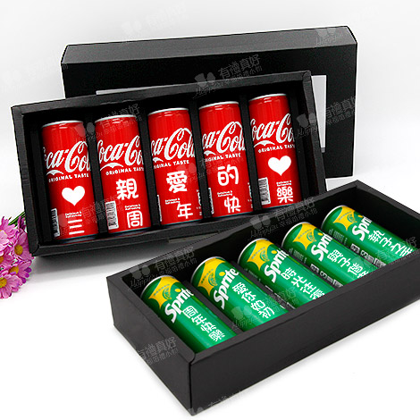 訂製款告白可樂 235ml可口可樂 汽水5入禮盒+LED燈