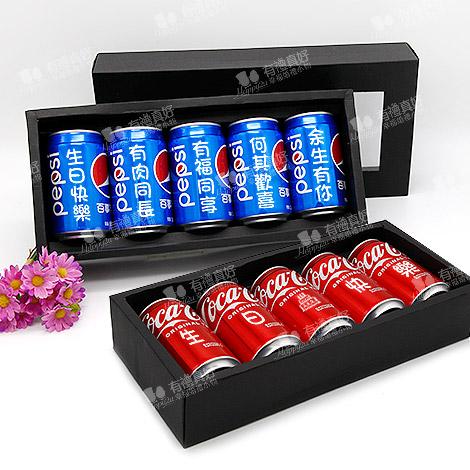 悄悄話告白可樂 大聲說 330ml可口可樂 5入LED燈禮盒